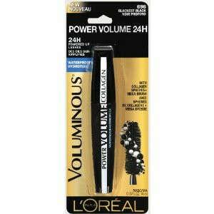 Тушь L'Oreal Paris Voluminous Power Volume 24H Mascara, Blackest Black