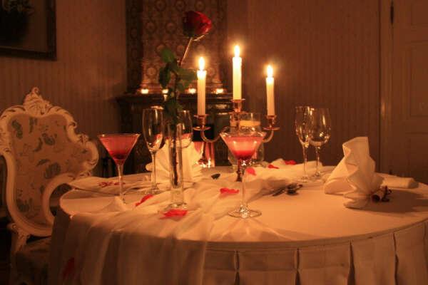 Романтический ужин с любимым мужем!