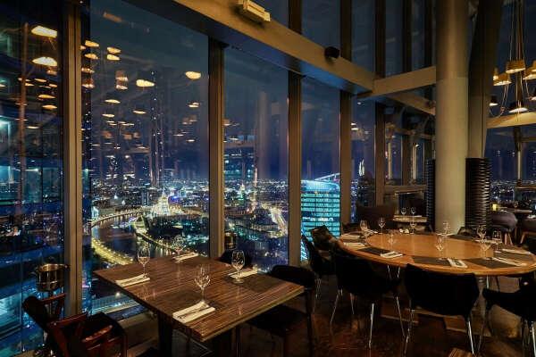 Ресторан в башне Око Москва Сити на 84 этаже