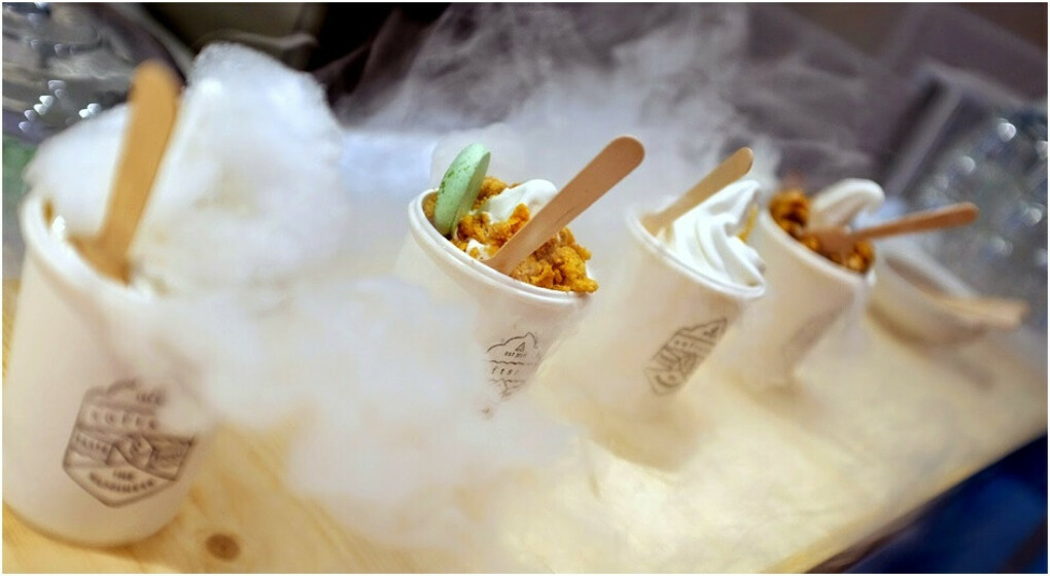 Попробовать мороженое с жидким азотом