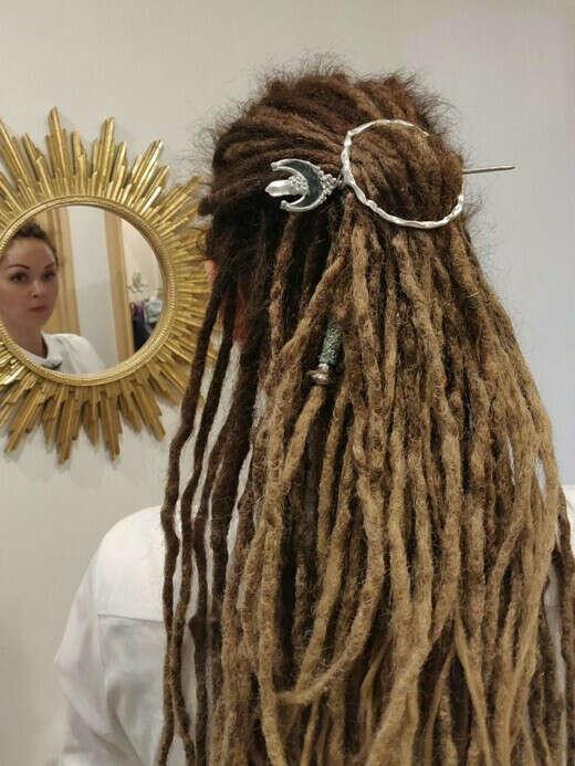Фибула для волос, дрэд, плаща, шарфа