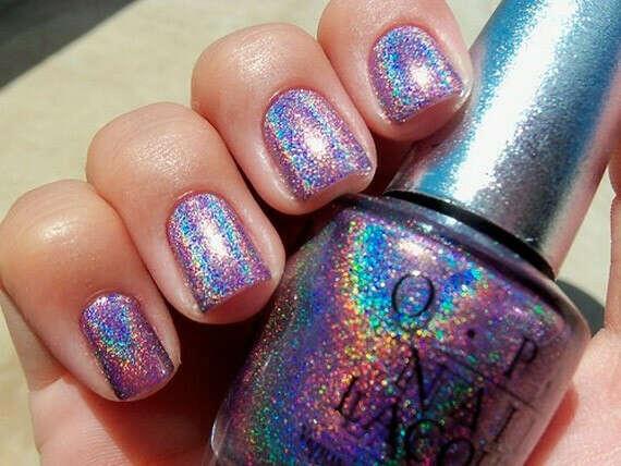 O.P.I holographic nail polish (rainbow)