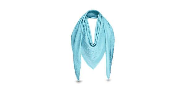Louis Vuitton: Шаль Monogram Shine