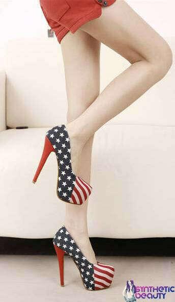 Туфли на платформе с флагом США