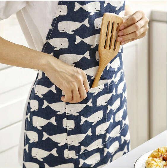 Кухонный фартук киты с АлиЭкспресс