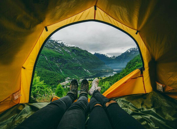 небольшое путешествие с палатками