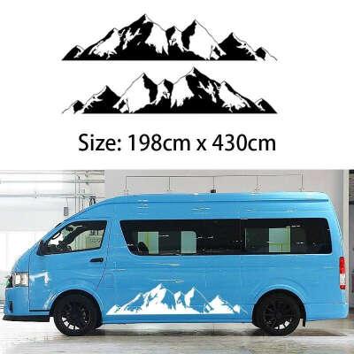 Mountain Off Road Camper Van Motorhome Door body Vehicle decal (one for each side) Vinyl Car Stickers Truck RV Northwest