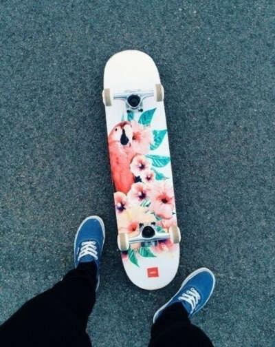 научится кататься на скейтборде.