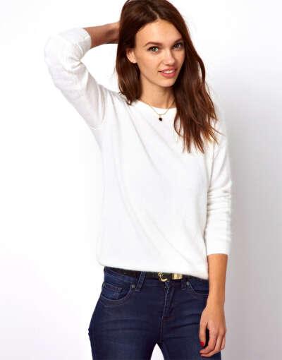 Джемпер из ангорской шерсти с длинными рукавами A Wear