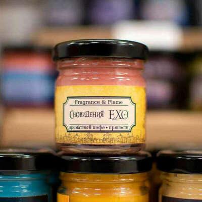 Свеча в стеклянной упаковке Fragrance&Flame: Сновидения ЕХО (40 мл)