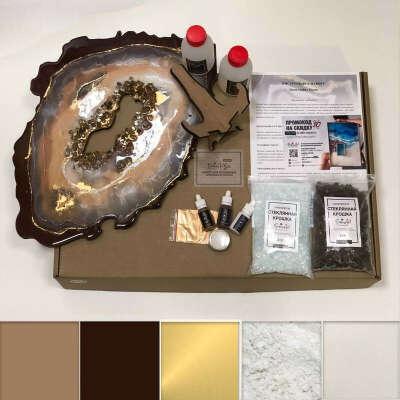 Набор срез камня смолой ResinArtBox Geode 004