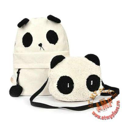 """Рюкзак и сумочка """"Панда"""""""