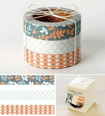 Набор декоративных скотчей 'Fabric Sticker' - Leaves