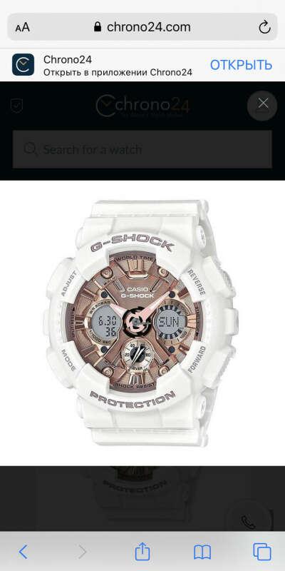 Casio Women's Ana-Digi Watch - G-Shock Rose Gold Dial Dive   GMAS120MF-7A2