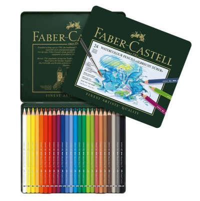 Акварельные карандаши 24 цвета Faber-Castell серии  Albrecht Durer