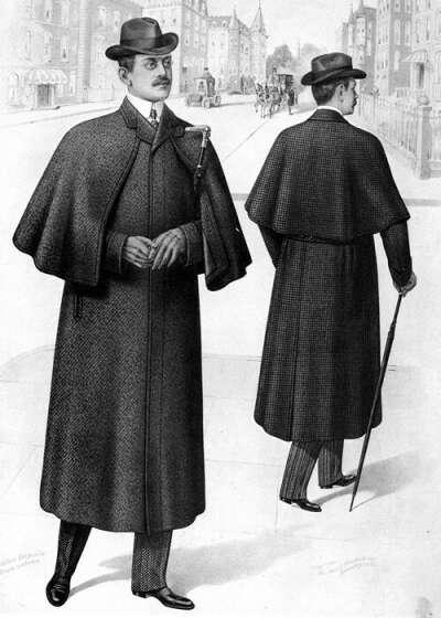 Длинное пальто с пелериной в стиле 1880-х
