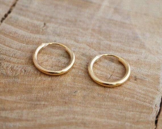 Золотые сережки-колечки
