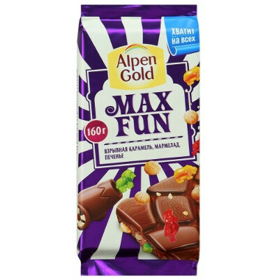 Шоколадка Alpen Gold Max fun
