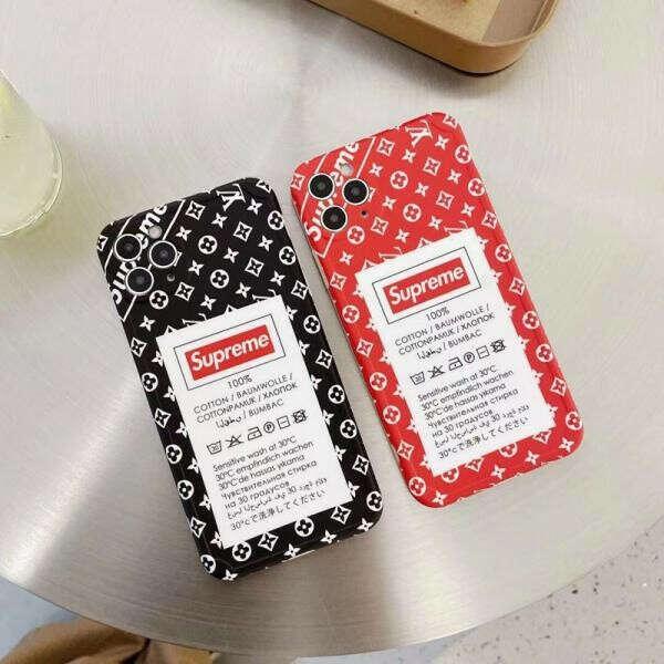 シュプリーム ヴィトン iPhone12プロ/12pro maxケース ブラント Supreme LV iPhone12/12miniケース 個性