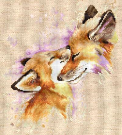Набор для вышивания «Luca-S» B2312 Лисицы купить в интернет-магазине «Мир Вышивки»
