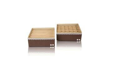 "Органайзер для белья (2 шт.) Широкий ""Chocolate Cake"" - коробки для хранения"