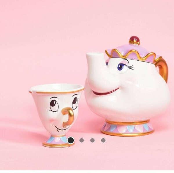 Заварочный чайник «Мадам Поттс» и кружка «Чип» Disney