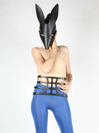 Fox Mask in Black