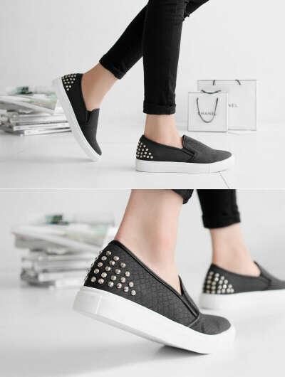Gmarket - Faux python-skin slip-on / sneakers / striped / mesh l...