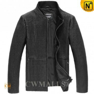 CWMALLS® Designer Quilted Leather Jacket CW807027