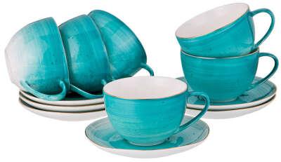 Столовую посуда в бирюзовых тонах
