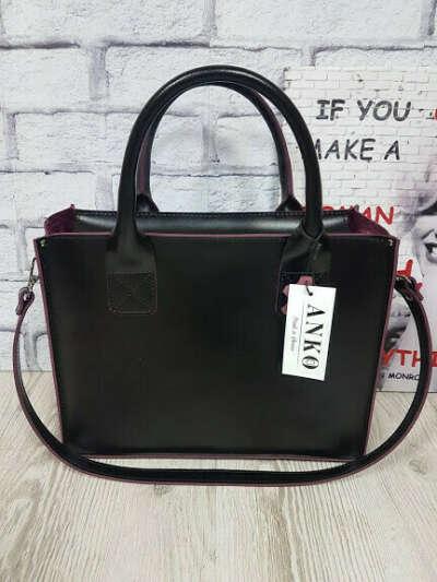Женская сумка средняя чёрного цвета