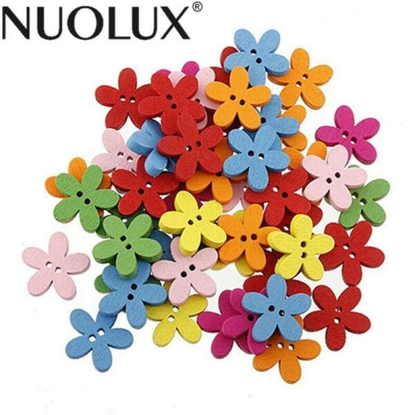 100 шт. красочный цветок Flatback деревянные пуговицы шитье скрапбукинг ремесло купить на AliExpress