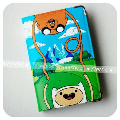 """обложка на паспорт ''Adventure time"""""""