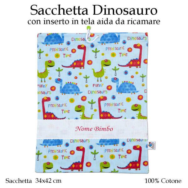 Sacchetta Scuola Materna Dinosauro