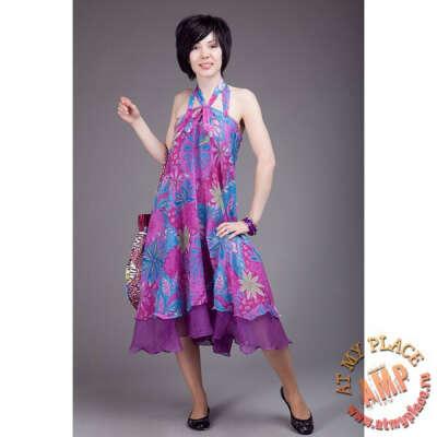 Платье-юбка с цветами
