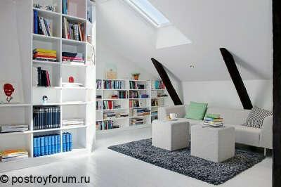 Новую комнату в чёрно белых тонах