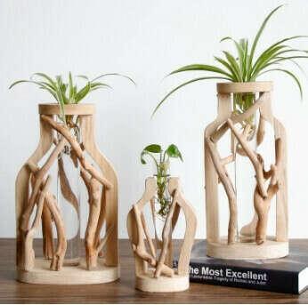 Деревянная ваза ручной работы