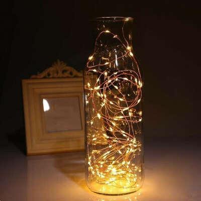 Аккумуляторный медный провод Fairy String Light Home Decor Рождественский патио