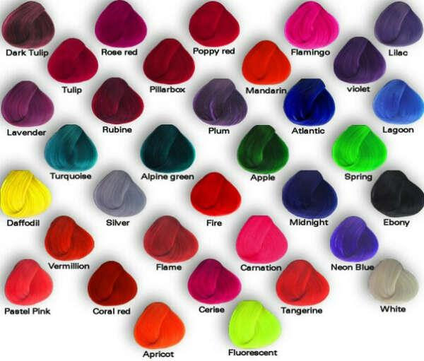 Покрасить волосы в яркий цвет