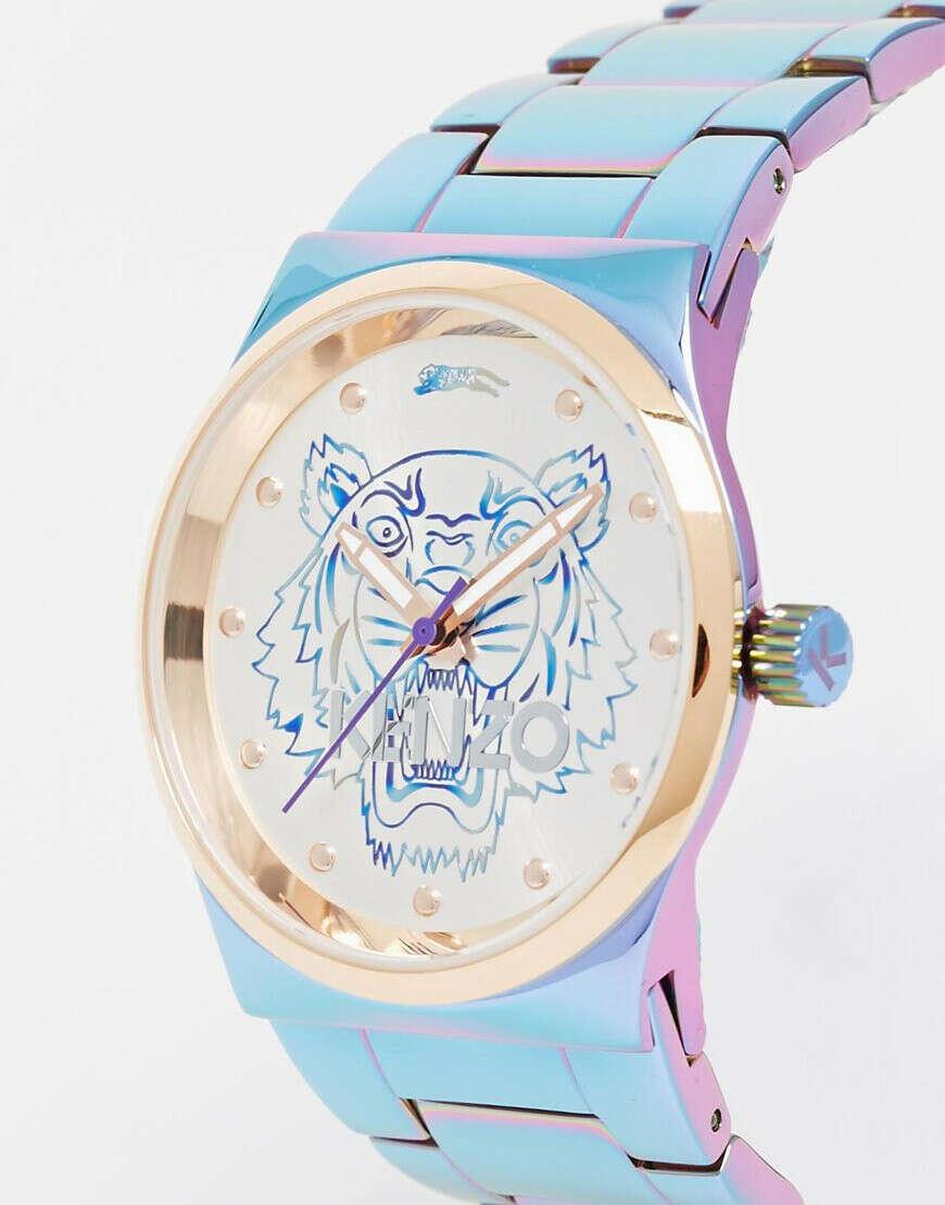 Радужные часы с головой тигра Kenzo