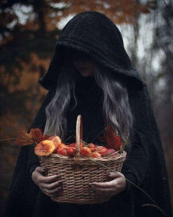 Фотосессия ведьмы
