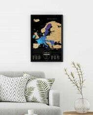 Travel Map® Black Europe - 1DEA.me