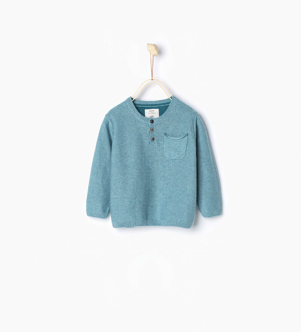Базовый свитер с горловиной хенли  Кoд 5536/561