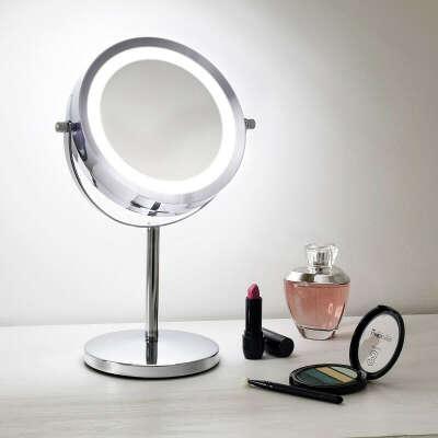 Зеркало с подсветкой на ножке
