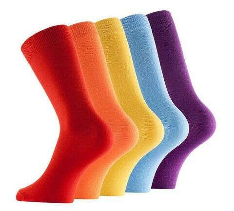 Однотонные носки
