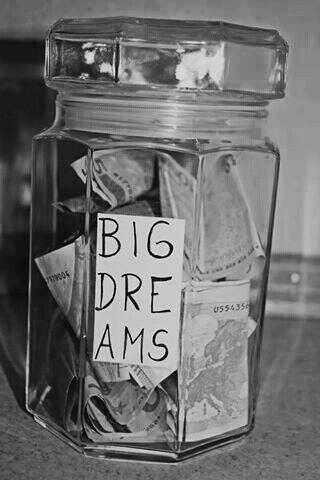 накопить достаточно денег на исполнение мечты