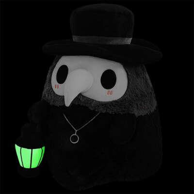 Плюшевый Чумной Доктор с фонариком