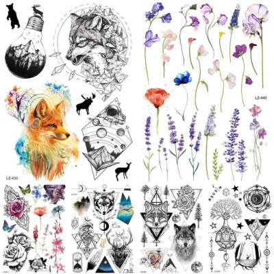 Переводные татуировки разные