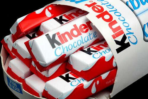 Много киндер-шоколад
