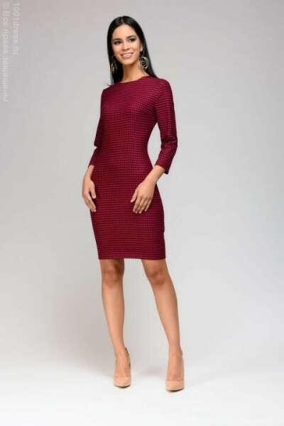 Платье цвета фуксии длины мини с принтом